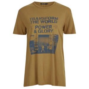 OBEY Clothing Women's Transform the World T-Shirt - Golden Brown
