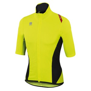 Sportful Fiandre Light NoRain Short Sleeve Jersey - Yellow Fluo/Black