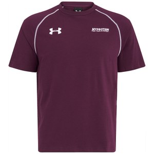 T-Shirt Under Armour Escape in Cotone da Uomo, Rosso Granata