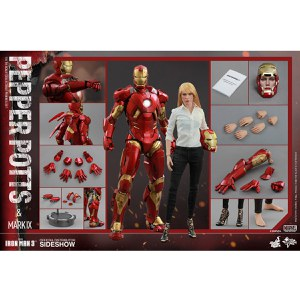 Hot Toys Marvel Iron Man 3 Iron Man Mark IX & Pepper Potts 1:6 Scale 2-Pack Figure Set