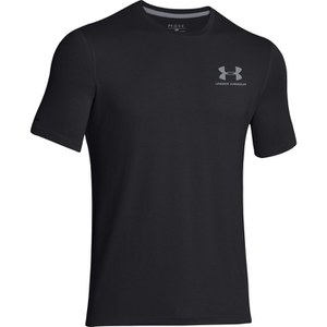 Under Armour Men's Sportstyle Left Chest Logo T-Shirt - Black