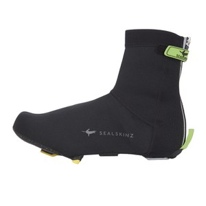 SealSkinz Open Sole Neoprene Overshoes - Black/Green