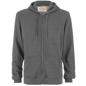 Salvage Men's Zip Through Hoody - Charcoal Marl