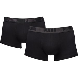 Puma Men's 2 Pack Boxers - Black/Black
