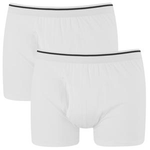 Wolsey Men's Twin Pack Keyhole Boxer Shorts - White