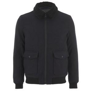 Selected Homme Men's Craft Teddy Bomber Jacket - Dark Navy