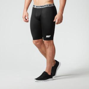 Shorts Long de Compression Homme, Noir
