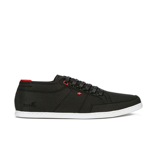 Boxfresh Men's Sparko Ripstop Low Top Trainers - Black/Chilli Red
