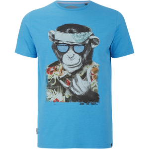 Animal Men's Loko Monkey Graphic T-Shirt - Indigo Blue Marl