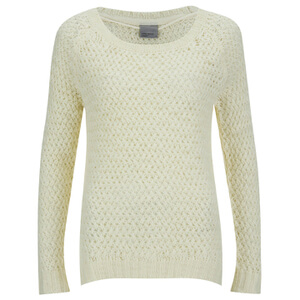 Vero Moda Women's Odessa Tipp Long Sleeve Blouse - Antique White