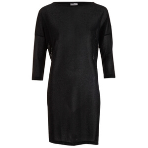 Vero Moda Women's Sianna 3/4 Mini Dress - Black Lurex