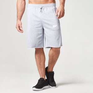 Myprotein Men's Cut Off Shorts with Zip Pockets - Grey Marl