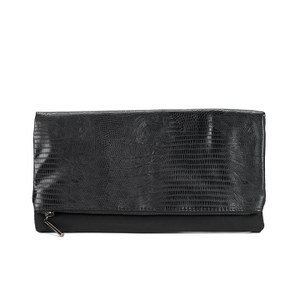 French Connection Women's Cris Clutch Bag - Black Lizard