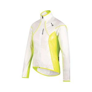 Santini Ice 2 Packable Spray Jacket - Transparent/Flo Yellow