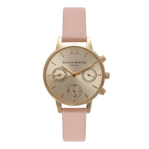 Olivia Burton Women's Midi Chrono Detail Watch - Dusty Pink/Gold