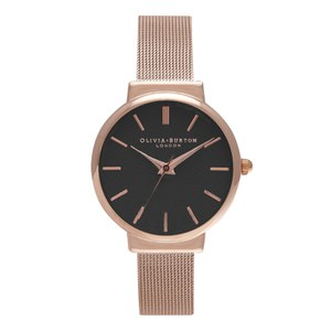 Olivia Burton Women's The Hackney Watch - Black/Rose Gold