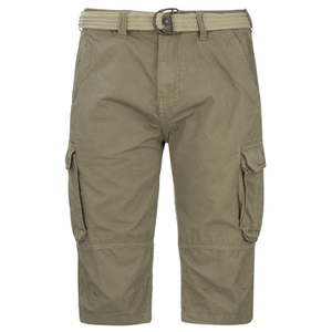 Brave Soul Men's Radical Belted Cargo Shorts - Stone