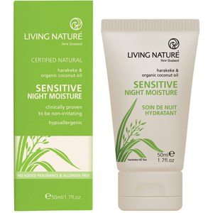 Crème de nuit Sensitive de Living Nature (50ml)
