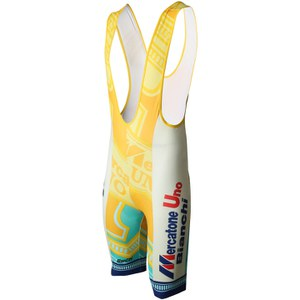 Santini Mercatone Max 2 Pad Bib Shorts -  Yellow