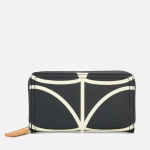 Orla Kiely Women's Stem Big Zip Wallet - Black