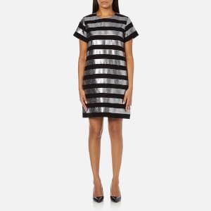 Marc by Marc Jacobs Women's Lame Stripe Dress - Black/Silver