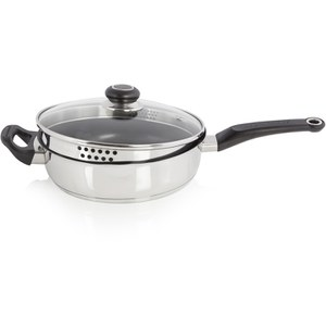 Morphy Richards 970009 Stainless Steel Saute Pan - 24cm