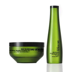 Shu Uemura Art of Hair Silk Bloom Shampoo (300 ml) og Treatment (200 ml)
