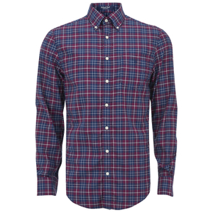 GANT Men's Tiebreak Twill Check Shirt - Mahogany Red