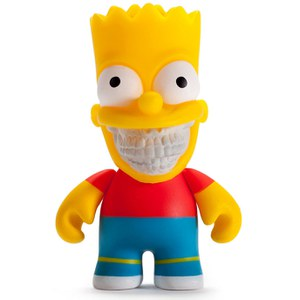 Kidrobot x The Simpsons Bart Grin 3 Inch Mini Figure by Ron English