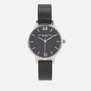 Olivia Burton Women's Midi Watch Black Dial & Silver