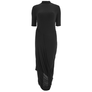 Selected Femme Women's Drape Dress - Black