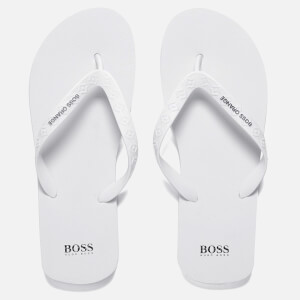 BOSS Orange Men's Loy Flip Flops - White