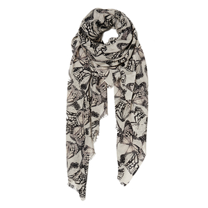 BeckSöndergaard Women's Joyo Print Scarf - Light Grey
