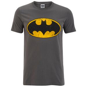 T-Shirt pour Homme -DC Comics - Batman Logo- Gris Foncé