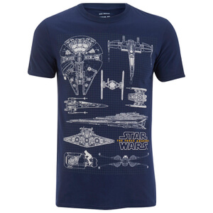 Star Wars Fleet Schematic Heren T-Shirt - Navy