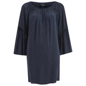 VILA Women's Alantata Long Sleeve Tunic Dress - Total Eclipse