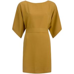 VILA Women's Macu Tie Dress - Amber Green