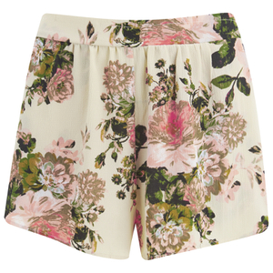 VILA Women's Flourish Spring Shorts - Pristine