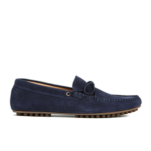 H Shoes by Hudson Men's Felipe Suede Driving Shoes - Navy