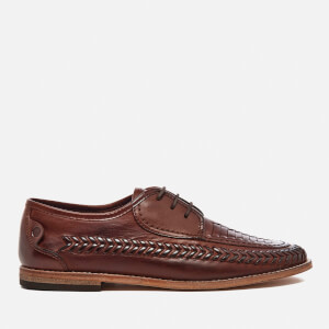 Hudson London Men's Anfa Leather Shoes - Cognac