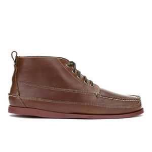 G.H. Bass & Co. Men's Camp Moc Ranger Pull Up Leather Boots - Mid Brown