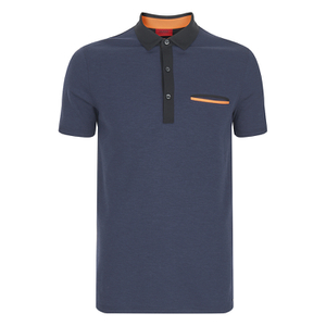 HUGO Men's Dexas Contrast Polo Shirt - Navy