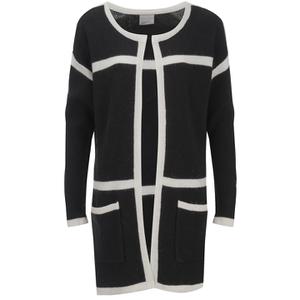 Vero Moda Women's Odelia Long Sleeve Coatigan - Black
