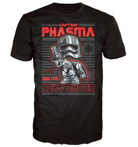 Star Wars Le Réveil de la Force Captain Phasma Poster Pop! T-Shirt - Noir