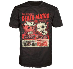 Freddy Vs Jason Deathmatch Poster Pop! T-Shirt - Black