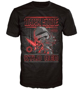 Star Wars Le Réveil de la Force Kylo Ren Poster Pop! T-Shirt - Noir