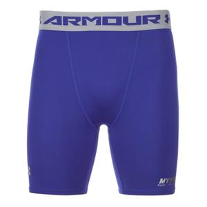 Under Armour 男子 HeatGear 强力伸缩型运动短裤 - 蓝色