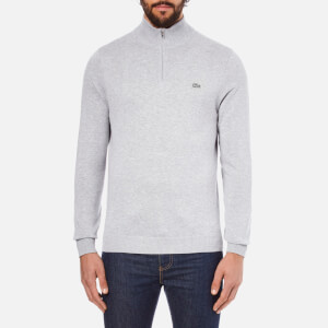 Lacoste Men's Quarter Zip Sweatshirt - Silver Chine