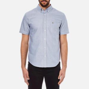 Lacoste Men's Short Sleeve Casual Shirt - Deauville Blue