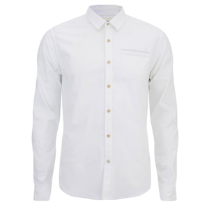 Scotch & Soda Men's Oxford One Pocket Shirt - White